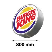 Lichtreclame enkelzijdig rond 800 mm