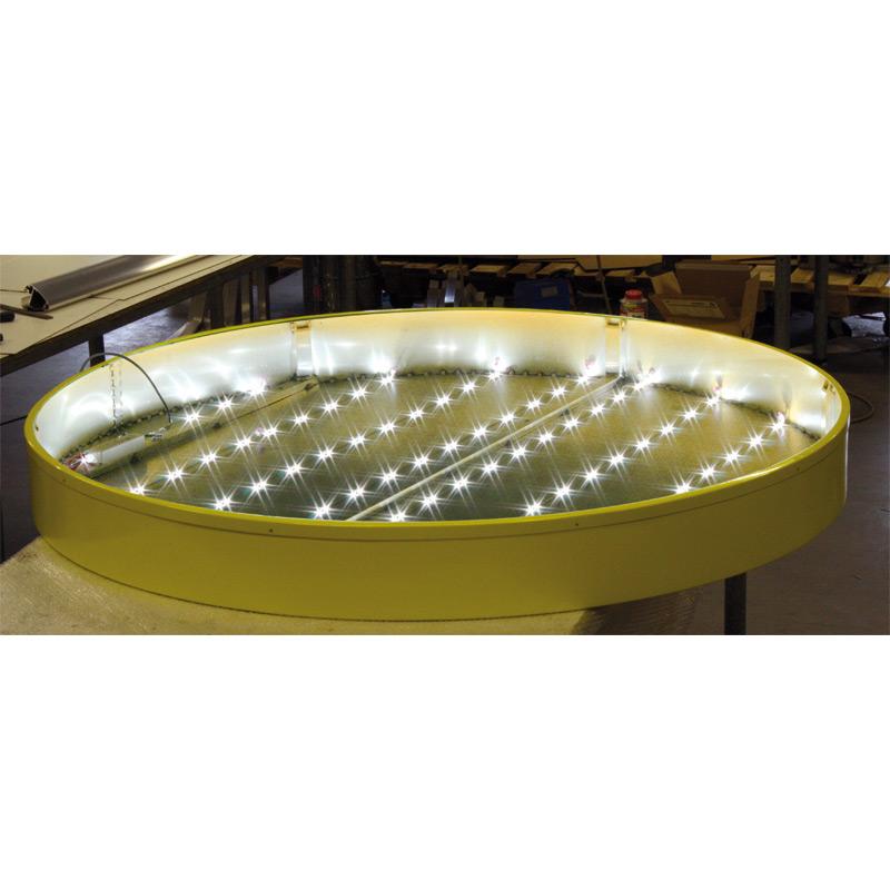 Lichtreclame rond enkelzijdig 900 x 900 mm