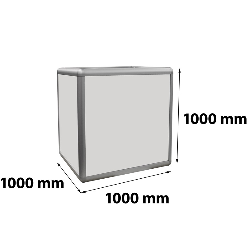 Kubus verlicht 1000 x 1000 x 1000 mm