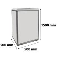 Zuil verlicht 500 x 500 x 1500 mm