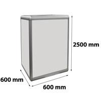 Zuil verlicht 600 x 600 x 2500 mm
