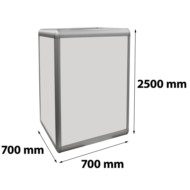 Zuil verlicht 700 x 700 x 2500 mm