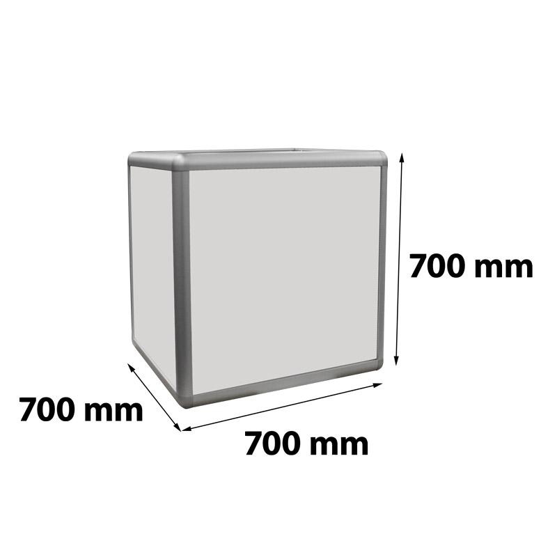 Kubus verlicht 700 x 700 x 700 mm