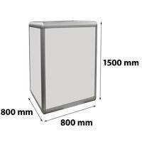 Zuil verlicht 800 x 800 x 1500 mm