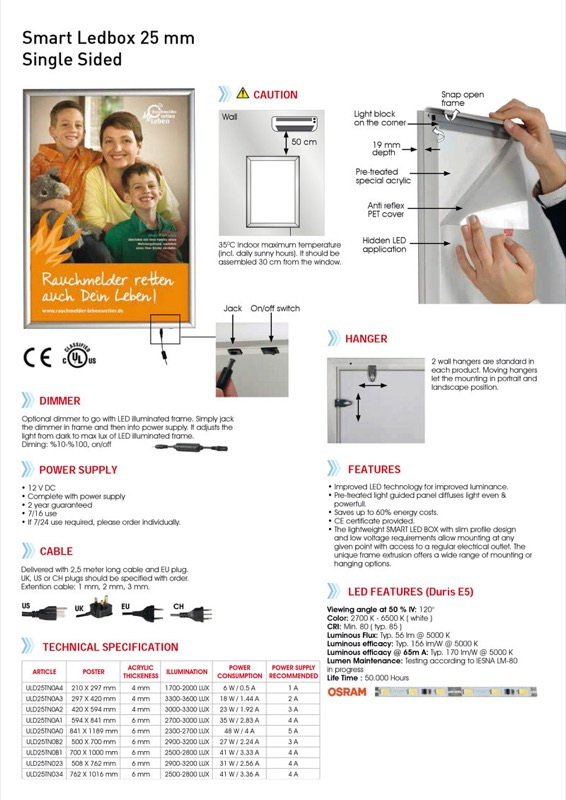 Smart Ledbox single-sided A4