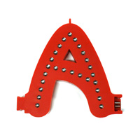 Smart led letter red a