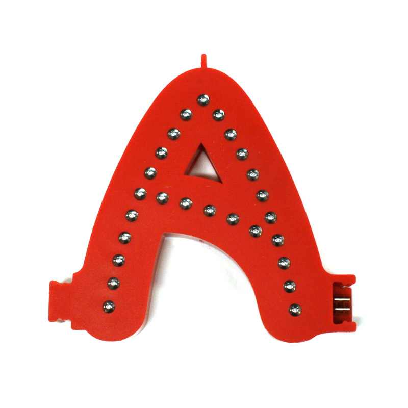 Smart led letter red a