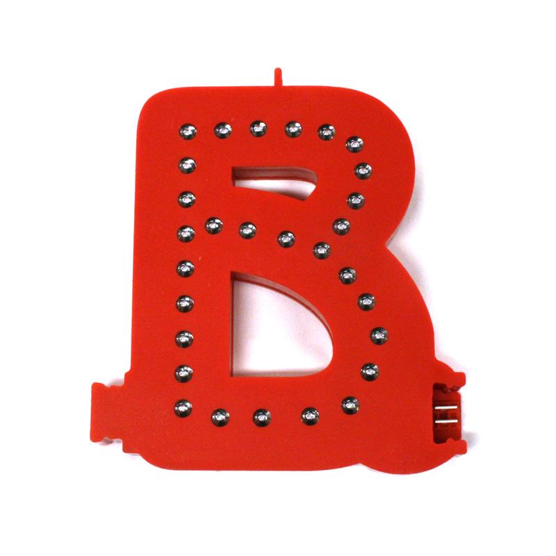 Smart led letter red b