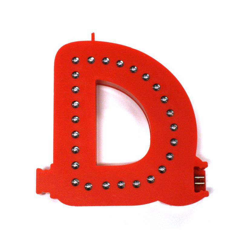 Smart led letter red d