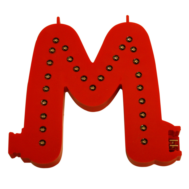 Smart led letter red m