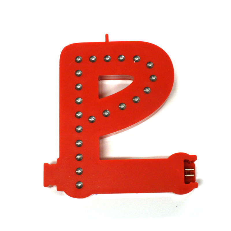 Smart led letter red p