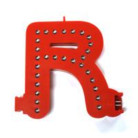 Smart Led Letter R