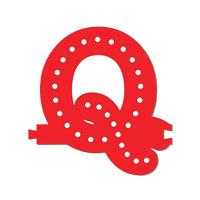 Smart Led Letter rood Q