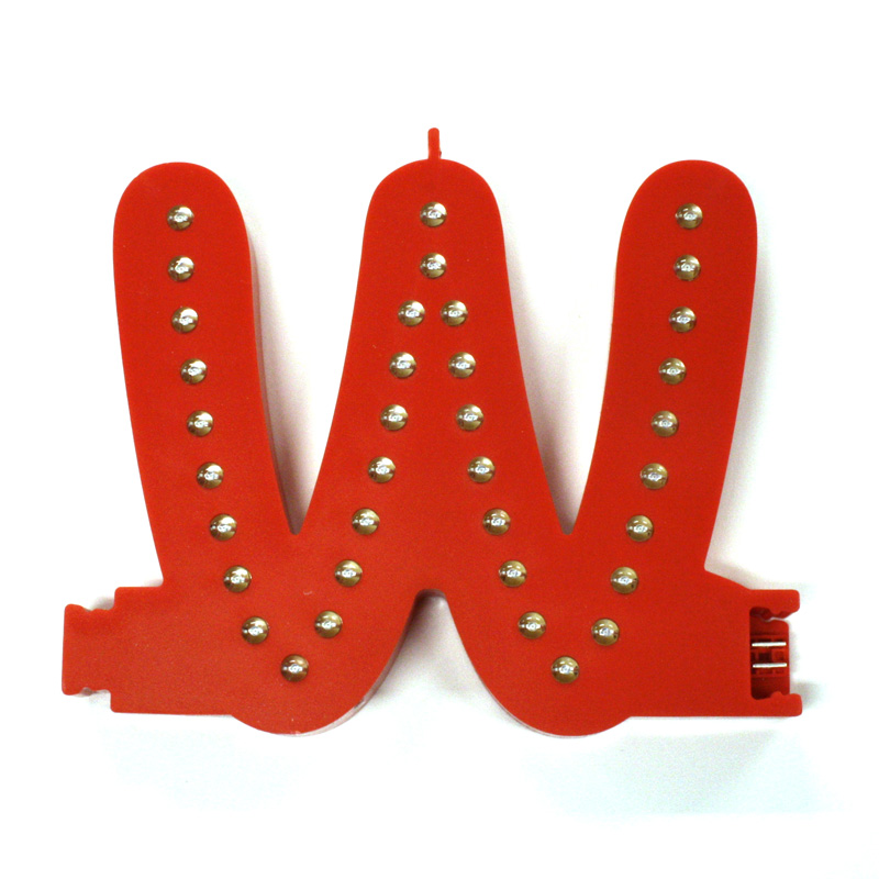 Smart led letter red w