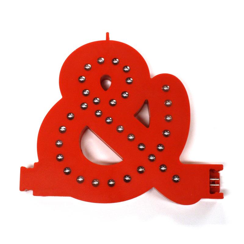 Smart led letter red &