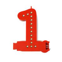 Smart Led Cijfer rood  1