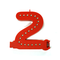 Smart Led Cijfer rood  2