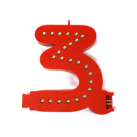 Smart Led Cijfer rood  3