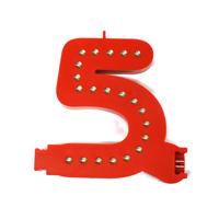 Smart Led Cijfer rood  5