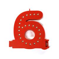 Smart Led Cijfer rood  6