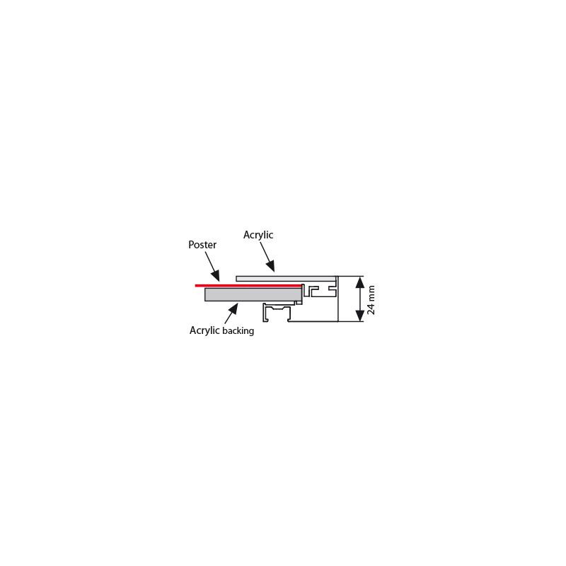 Magnetic LEDbox single sided A4