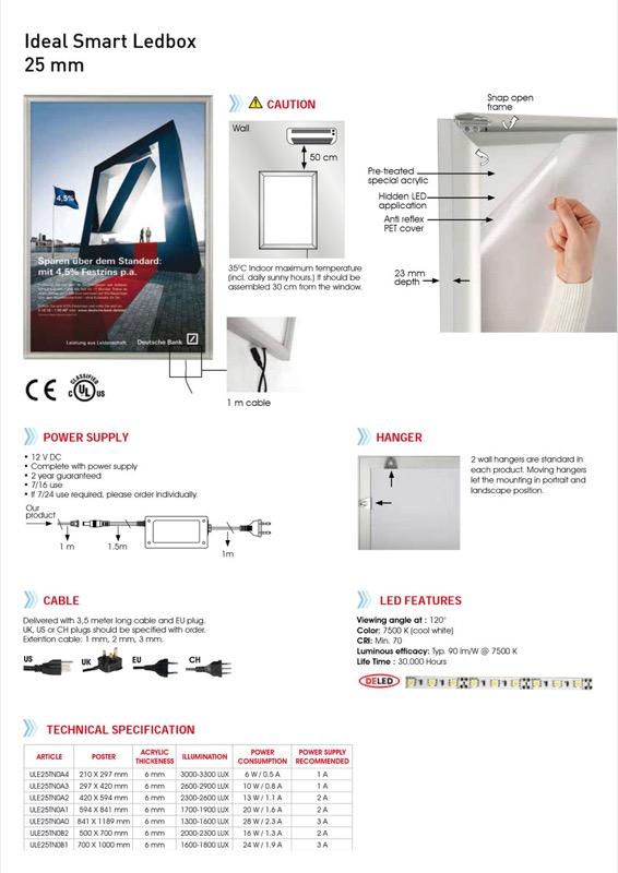 Smart LEDbox eco single-sided A0