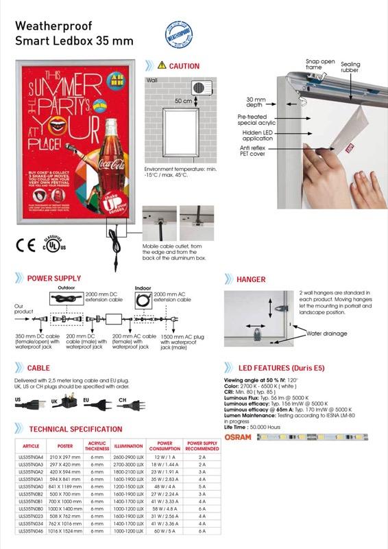 Smart LED box waterproof A1