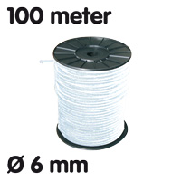 Elastic on roll White 100 m Ø 6 mm