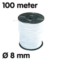 Elastic on roll White 100 m Ø 8 mm