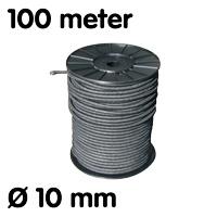 Élastique sur rouleau noir 100 m Ø 10 mm