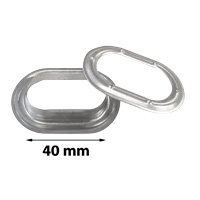 Grommets self-cutting oval stainless steel 40,0 mm