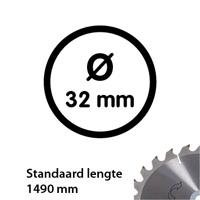 Aluminium buis 33,7 mm 1490 mm wanddikte 2 mm