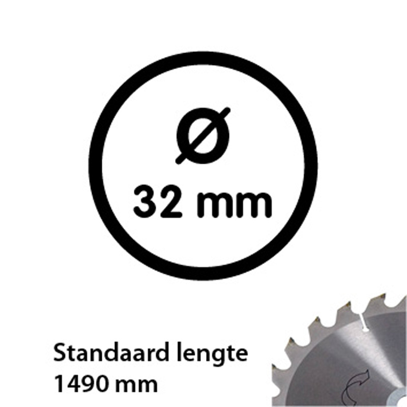 Aluminum tube 33.7 mm 1490 mm