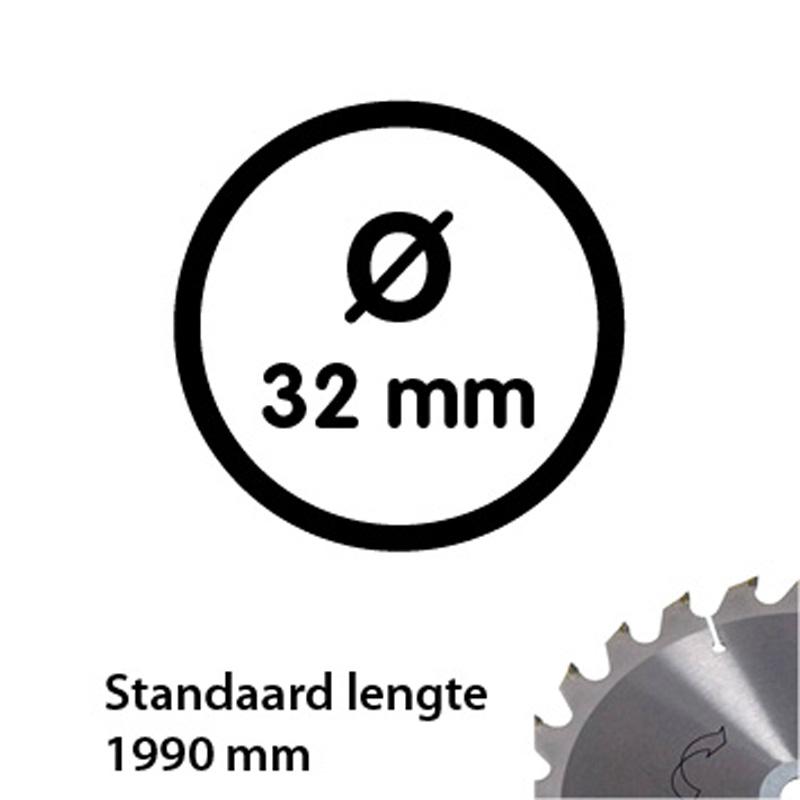 Tube d'aluminium 33,7 mm en longeur 1990 mm épaisseur de 2 mm