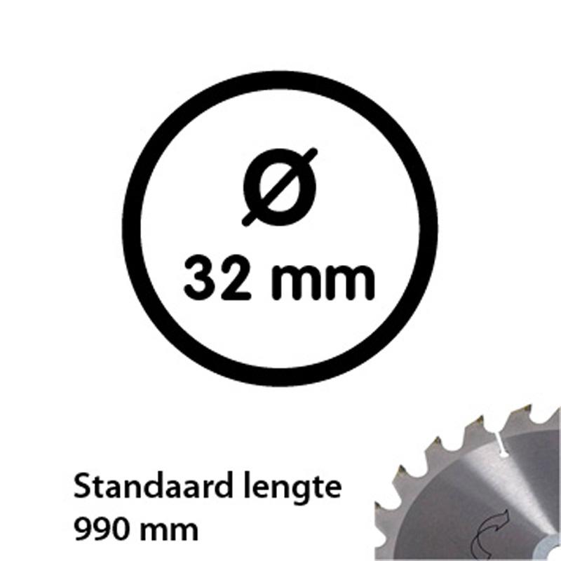 Aluminum tube 33.7 mm 990 mm