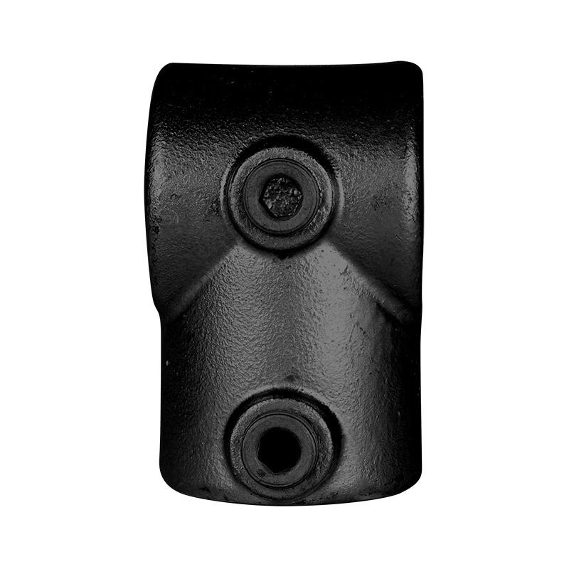 Kort T-stuk Ø 48 mm zwart