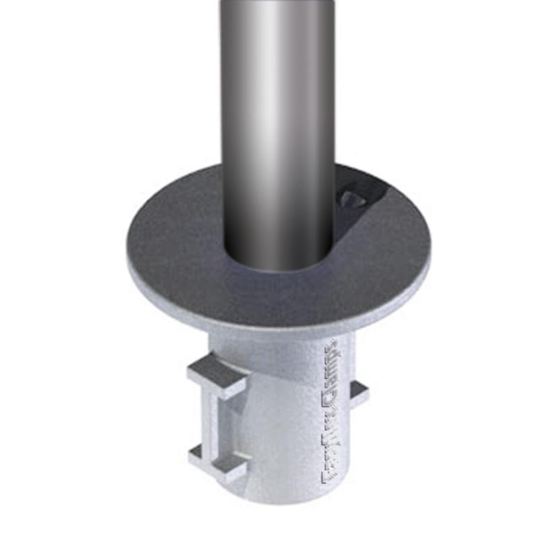 Groundpot for concrete constructions diameter 48 mm