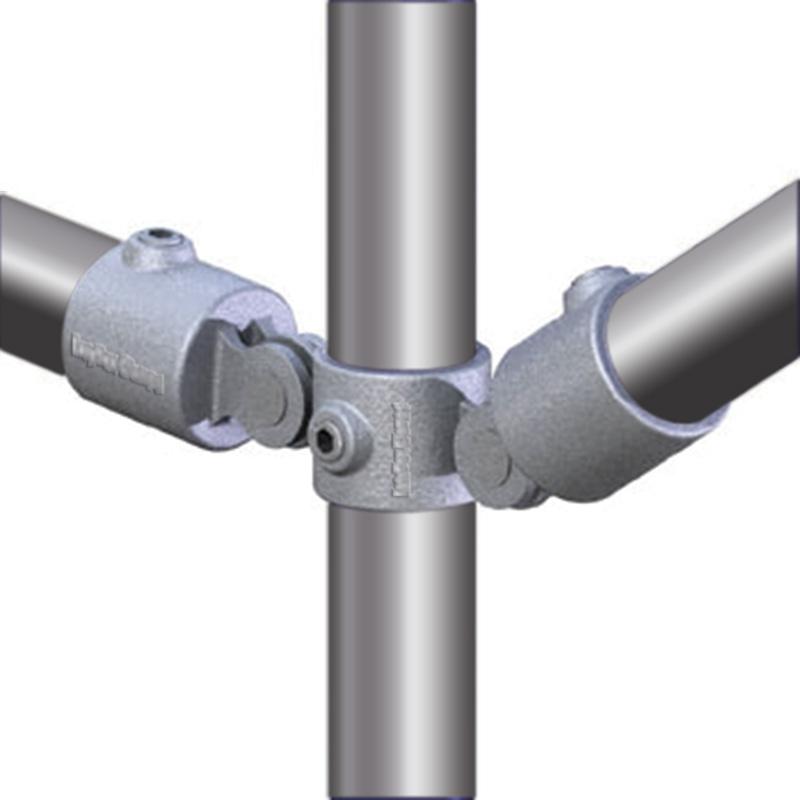 Brace clamp 3-leg 33 7 mm