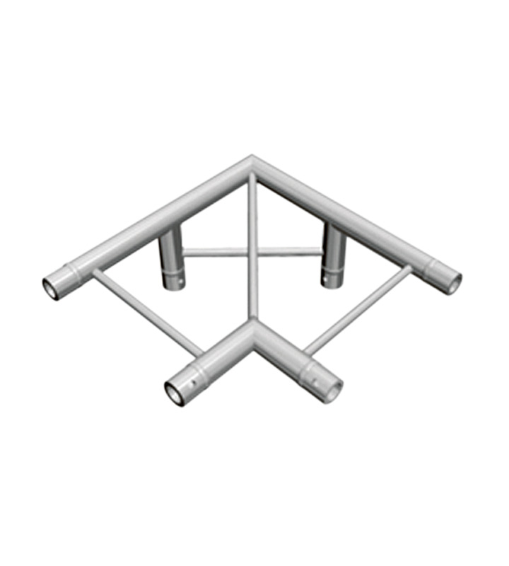 I-truss corner 90 degree 3-way flat