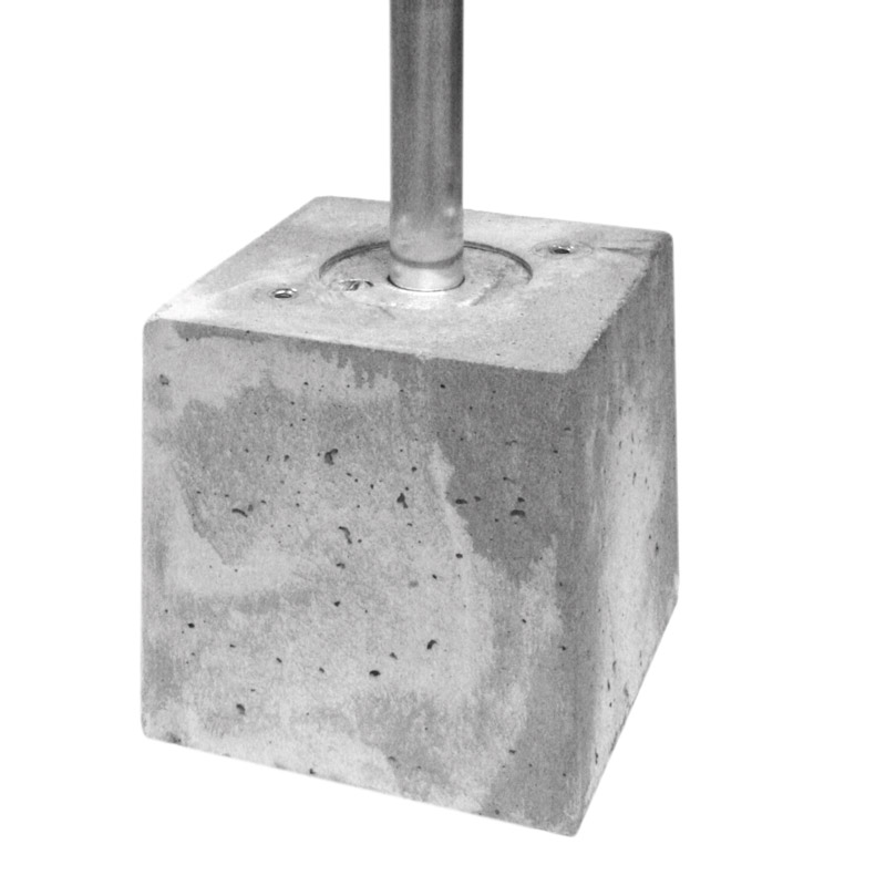 Concrete block with c17ø48