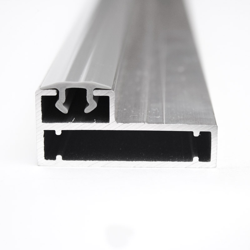Clip frame profile 22 mm for pile wall with grey clip profile