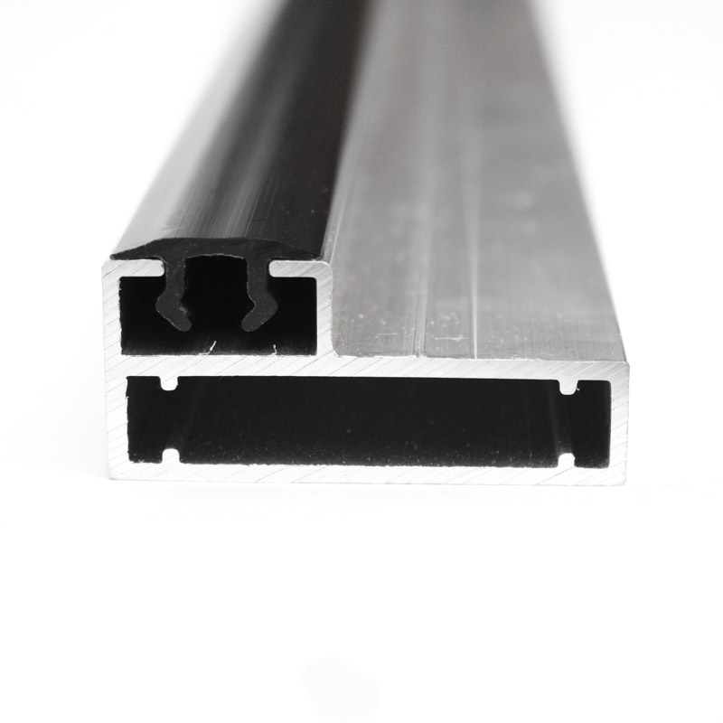 Clip frame profile 22 mm for pile wall with black clip profile
