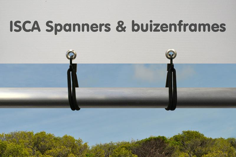 Dubbele doekspanner Zwart 190 mm Ø 8 mm