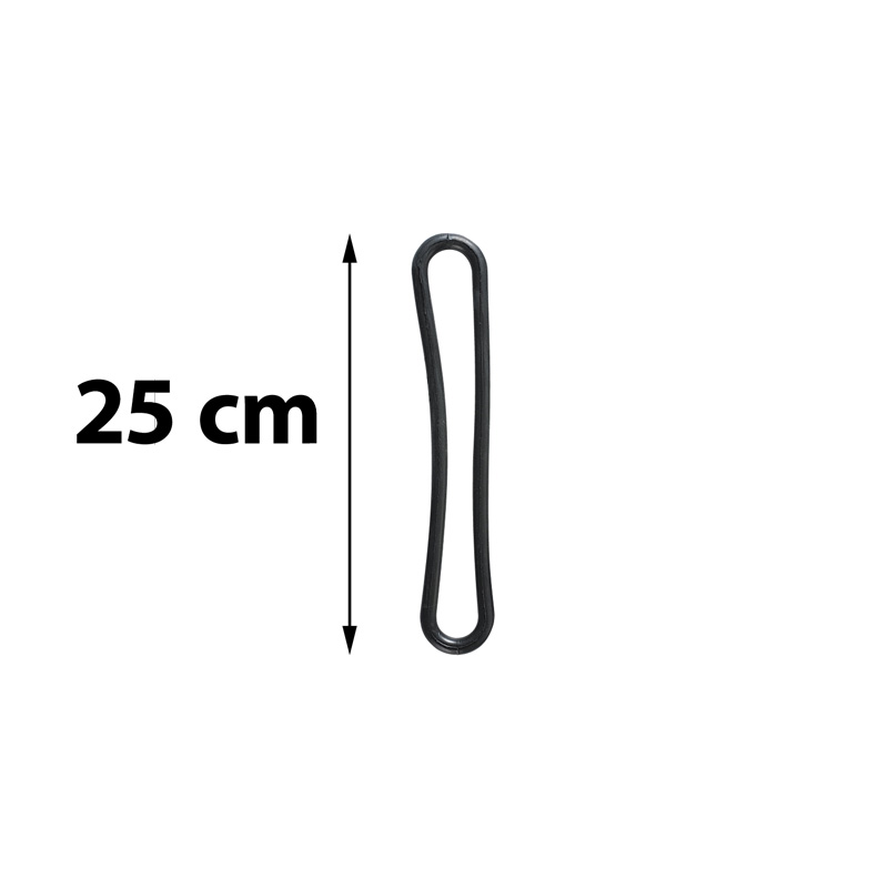 Spinner s-hook black diameter 8 mm length 250 mm