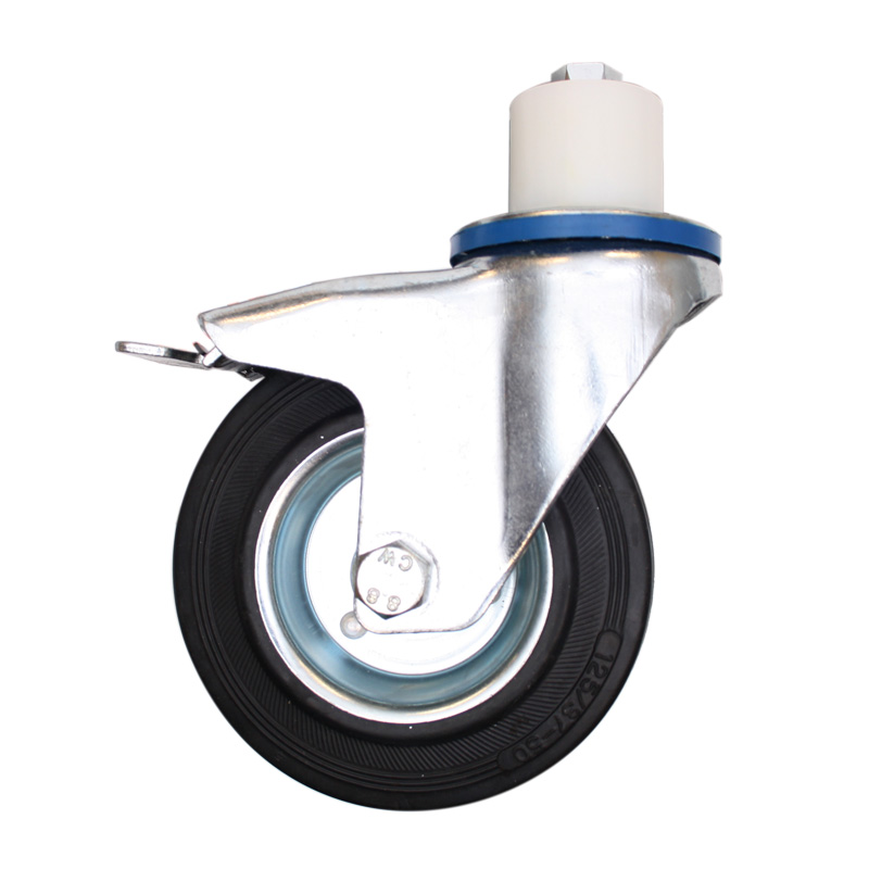 Zwenkwiel met rem, Ø 155 mm
