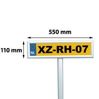 25 mm snap frame parking sign, 110 x 550 mm, mitred