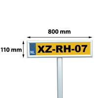 25 mm snap frame parking sign, 110 x 800 mm, mitred