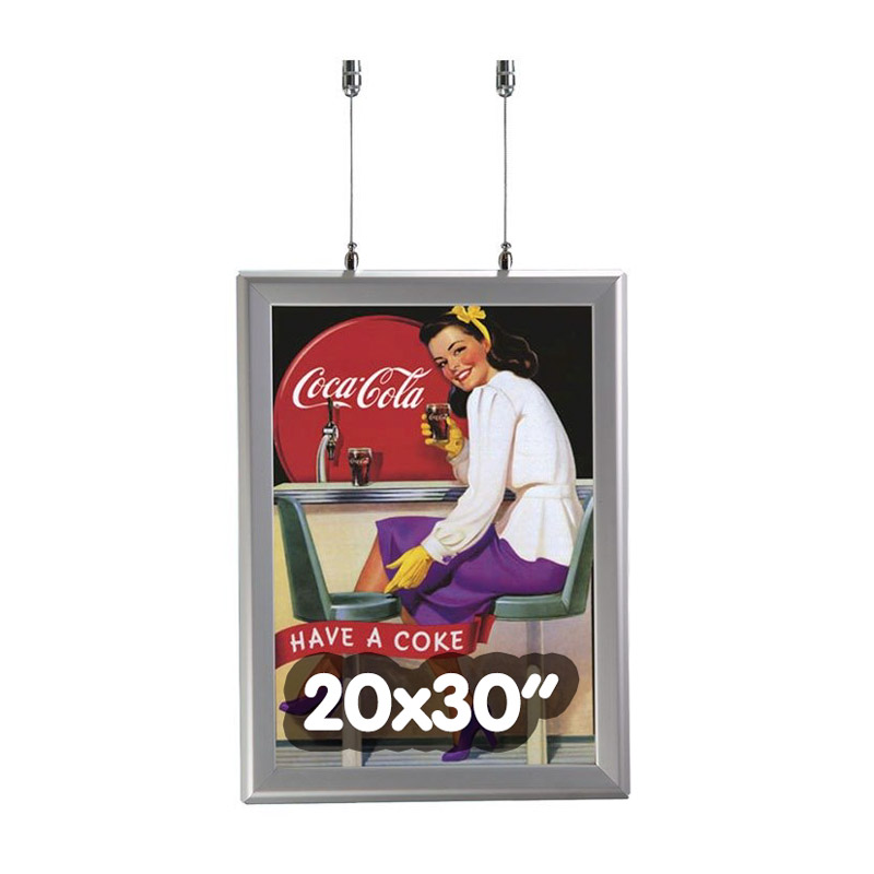32 mm round double-sided frame 20 x 30 inch
