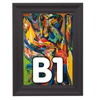 Fancy Frame kliklijst 40 mm B1 RAL 9005 700 x 1000 mm