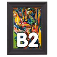 Fancy Frame kliklijst 40 mm B2 RAL 9005 500 x 700 mm